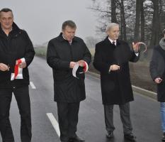 Otwarcie drogi w miejscowości Osieczna